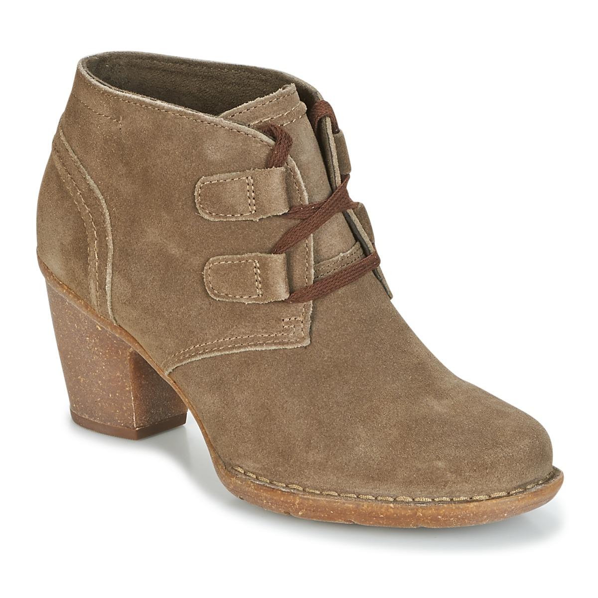 Clarks CARLETA LYON Khaki - Kostenloser Versand bei Spartoode ! - Schuhe Low Boots Damen 95,20 €
