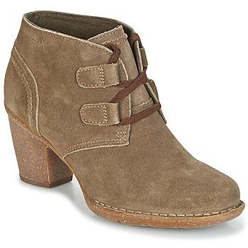 Schuhe Damen Low Boots Clarks CARLETA LYON Khaki
