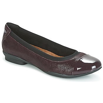 Schuhe Damen Ballerinas Clarks NEENAH GARDEN Aubergine