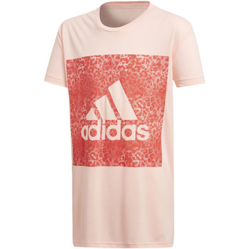 Kleidung Mädchen T-Shirts adidas Performance Essentials Logo in the Box T-Shirt Rosa