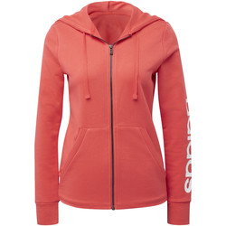 Kleidung Damen Trainingsjacken adidas Performance Essentials Linear Kapuzenjacke Weiß