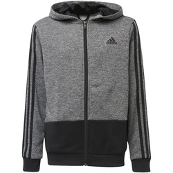 Kleidung Jungen Trainingsjacken adidas Performance Training Gear Up Full Zip Kapuzenjacke Grau / Schwarz / Schwarz