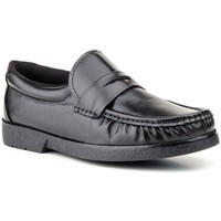 Schuhe Herren Slipper Sachini Shoes Mocasin de hombre de piel by Sachini Negro