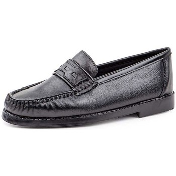 Schuhe Herren Slipper Sachini Shoes Mocasin nautico de hombre de piel by Sachini Negro
