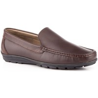 Schuhe Herren Slipper Sachini Shoes Mocasin de hombre de piel by Nautic Marrón