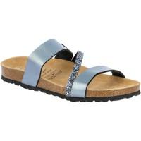 Schuhe Damen Sandalen / Sandaletten Lico Bioline glitter grau
