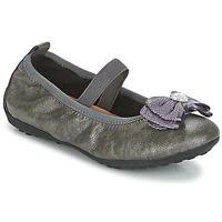 Schuhe Mädchen Ballerinas Geox J PIUMA BALLERINES Grau