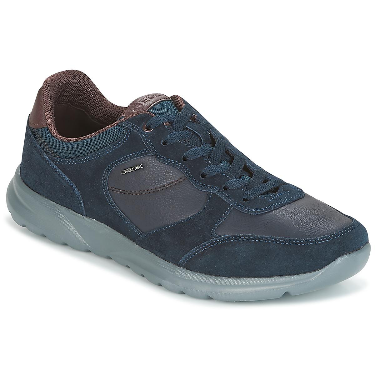 Geox U DAMIAN Blau - Kostenloser Versand bei Spartoode ! - Schuhe Sneaker Low Herren 71,99 €