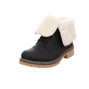 Schuhe Damen Boots Rieker - Y142101  schwarz/kastanie/offwhite