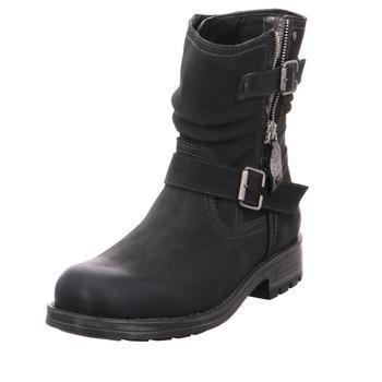 rieker 73222 45 anthrazit schwarz rot gra schuhe boots. Black Bedroom Furniture Sets. Home Design Ideas