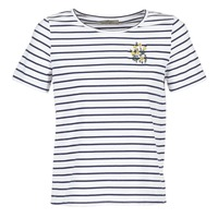 Kleidung Damen T-Shirts Betty London INNAMOU Weiss / Marine
