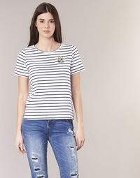 Kleidung Damen T-Shirts Betty London INNAMOU Weiss / Marine