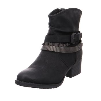 Schuhe Damen Low Boots Jane Klain Schlupf- RV-Stiefelette glatte BLACK002
