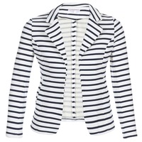 Kleidung Damen Jacken / Blazers Moony Mood IFAROUCHE Weiss / Marine