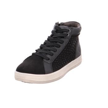 Schuhe Damen Sneaker High Idana SchnUErstiefel Sportboden KF BLACK002