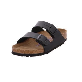Schuhe Damen Pantoffel Birkenstock Arizona BF Soft Schwarz Schwarz00079