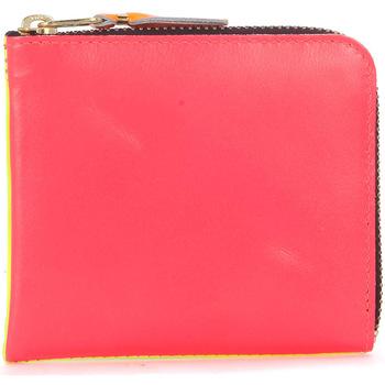 Taschen Portemonnaie Comme Des Garcons Comme Des Garçons Portemonnaie Wallet in Leder in Fluo Rosa und Bunt