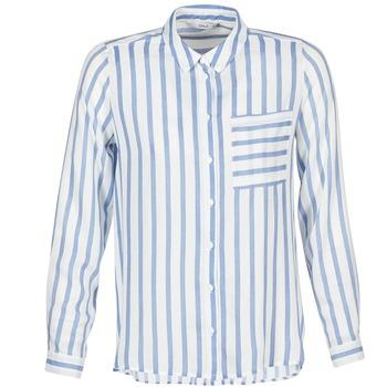 Kleidung Damen Hemden Only CANDY Weiss / Blau