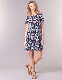 Kleidung Damen Kurze Kleider Casual Attitude IYURTOLAL Blau