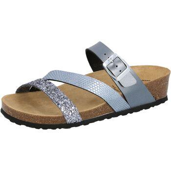 Schuhe Damen Pantoffel Lico Natural Glitter grau