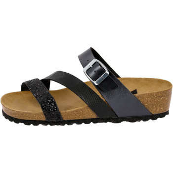 Schuhe Damen Pantoffel Lico Natural glitter schwarz