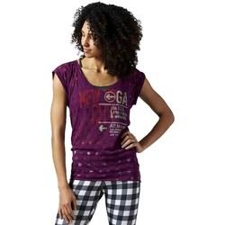 Kleidung Damen T-Shirts Reebok Sport Yoga New York Violett
