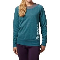 Kleidung Damen Sweatshirts Reebok Sport Sel Melange Crew Grün