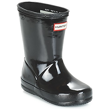 Schuhe Kinder Gummistiefel Hunter KIDS FIRST CLASSIC GLOSS Schwarz