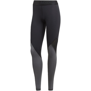 Kleidung Damen Leggings adidas Performance Alphaskin Sport Printed lange Tight Schwarz
