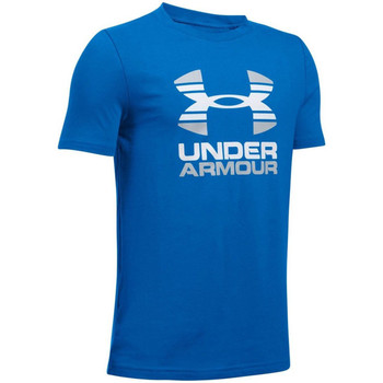 Kleidung Kinder T-Shirts Under Armour UA Two Tone Logo SS Kids Tee 1298292-907