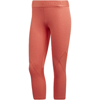 Kleidung Damen Leggings adidas Performance Alphaskin Sport Heather 3/4-Tight Orange / Mehrfarbig