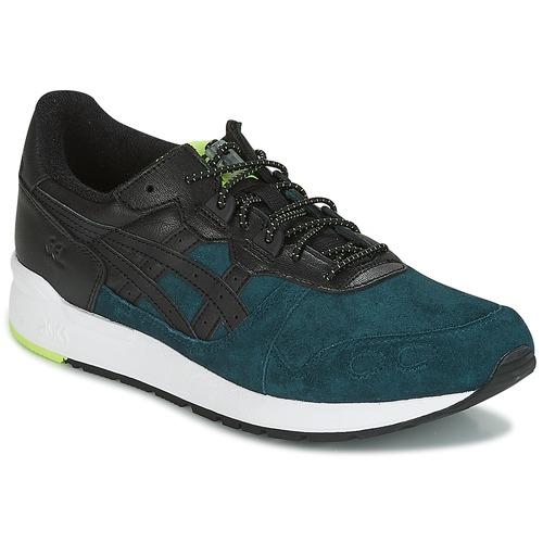 Asics GEL-LYTE Schwarz / Blau / Gelb  Schuhe Sneaker Low Herren 109