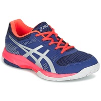 Schuhe Damen Indoorschuhe Asics GEL-ROCKET 8 Blau / Rose / Orange