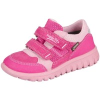 Schuhe Kinder Sneaker Low Superfit Sport Mini Pink Kombi Velour Tecno Textil