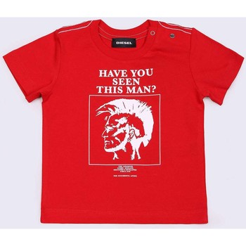 Kleidung Kinder T-Shirts Diesel TRUEB 00K1R8 00YI9 T-SHIRT Unisex Junior RED RED