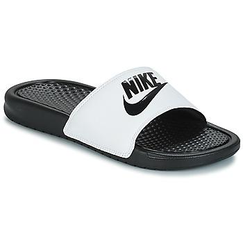 Schuhe Herren Pantoletten Nike BENASSI JUST DO IT Weiss / Schwarz