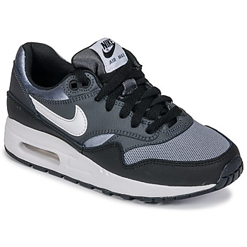 Schuhe Jungen Sneaker Low Nike AIR MAX 1 GRADE SCHOOL Schwarz / Grau