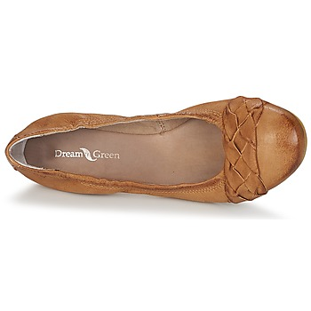 Dream in Green CICALO Braun - Kostenloser Versand    - Schuhe Ballerinas Damen 5599