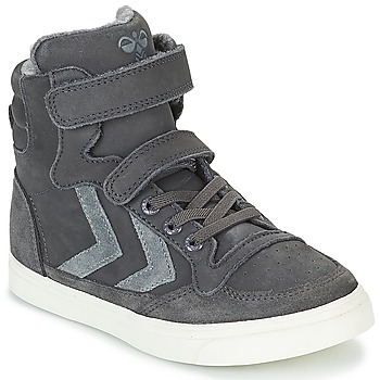 Schuhe Kinder Sneaker High Hummel STADIL OILED HIGH JR Grau