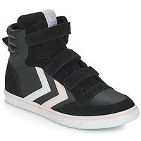 Schuhe Mädchen Sneaker High Hummel STADIL LEATHER JR Schwarz
