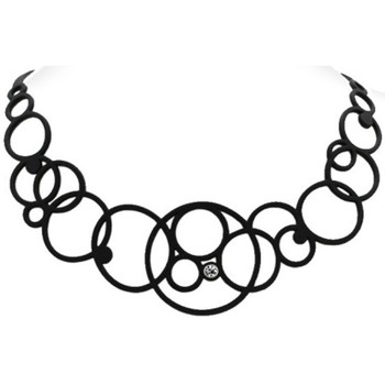 Uhren Damen Collier Blue Pearls Halskette Frau Schwarz Silikon Gum Other