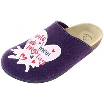 Schuhe Damen Pantoffel Weeger Hausschuhe Motiv LiebTag viola