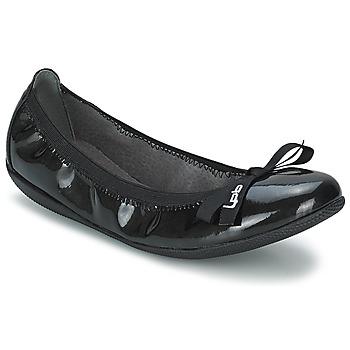 Schuhe Damen Ballerinas LPB Shoes ELLA VERNIS Schwarz