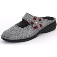 Schuhe Damen Hausschuhe Finn Comfort Arlberg Light Greycassis Wollfilz Grau