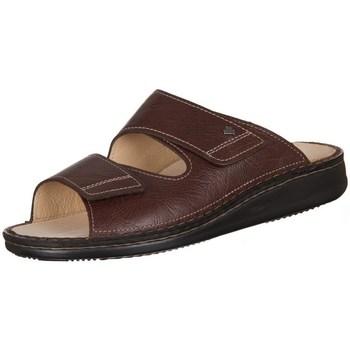 Schuhe Herren Pantoffel Finn Comfort Riad Braun Karbo