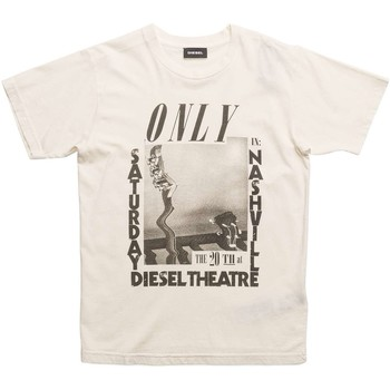 Kleidung Kinder T-Shirts Diesel TUES 00J3SP 0SAPC T-SHIRT junge OFF WHITE OFF WHITE