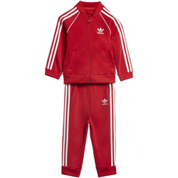 Kleidung Kinder Jogginganzüge adidas Originals SST Trainingsanzug Rot