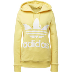 Kleidung Damen Trainingsjacken adidas Originals Trefoil Hoodie yellow