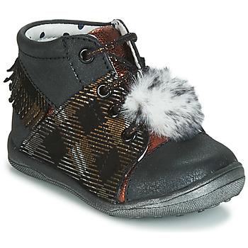 Schuhe Mädchen Sneaker High Catimini PEPITA Schwarz / Kupfer