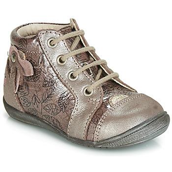 Schuhe Mädchen Sneaker High GBB NICOLE Grün / gelb / schwarz / Rosa+druck / Dpf / Kezia